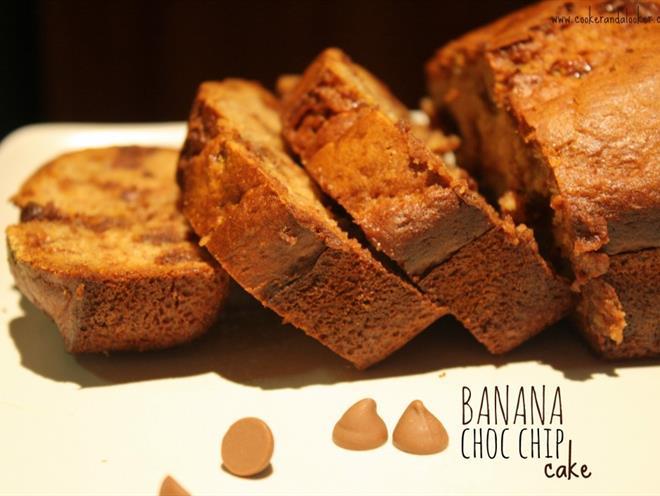 Banana Chocolate Chip Loaf Cake