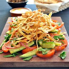 Fattoush With Crunchy Flatbread Ribbons by RecipeTin Eats