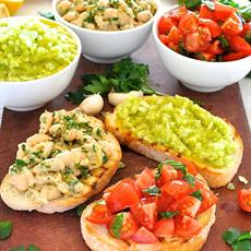 Build Your Own Bruschetta by RecipeTin Eats