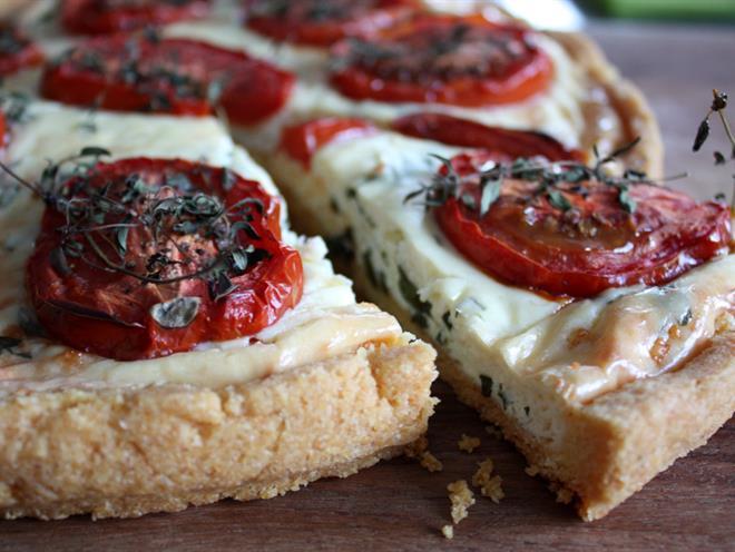 Polenta Crust Tomato Tart · Australian Kitchen
