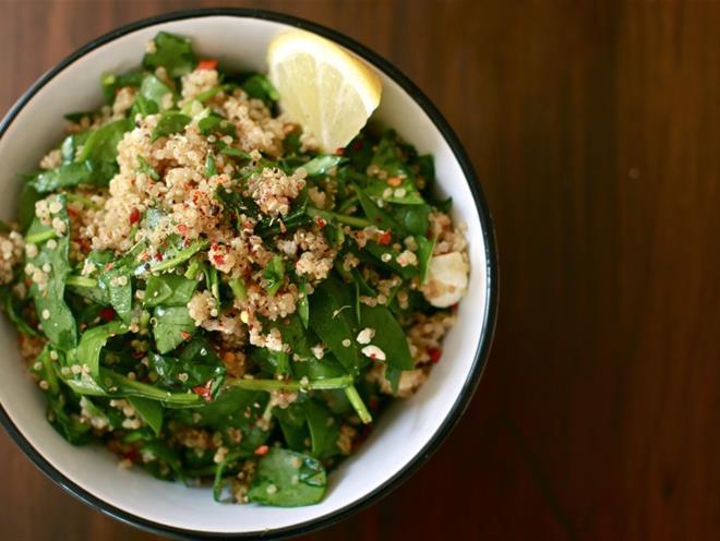 Quinoa, Spinach And Feta Bourek Salad · Australian Kitchen