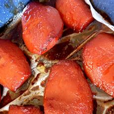 Slow-Cooker Poached Quinces by Lambs' Ears & Honey