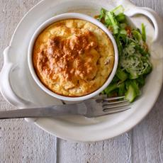 Smoked Salmon and Cheese Souffle with Asparagus Salad · Australian ...