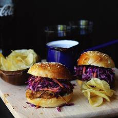Smoky Bbq Pulled Pork Burgers by The Sugar Hit