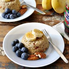 5 Min Banana & Quinoa Cakes by Fuss Free Cooking