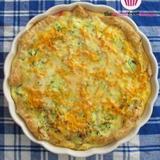 Bacon, Leek, Zucchini and Carrot Quiche