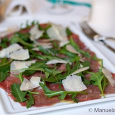 Carpaccio With Grana Padano And Rocket