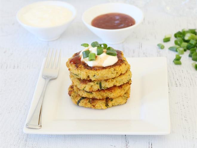 Cheesy Quinoa, Sweet Potato & Zucchini Fritters · Australian Kitchen