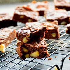 Chocolate, Avocado and Macadamia Brownie