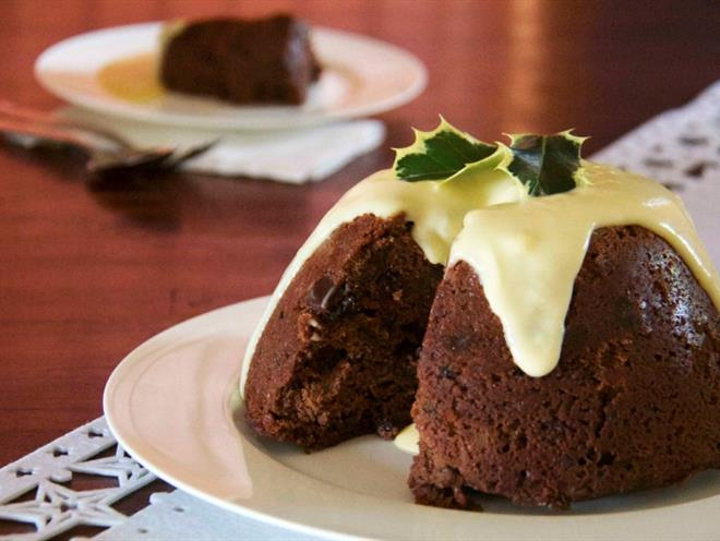 how to cook chocolate white wings pudding in microwave