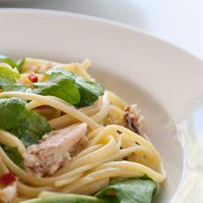 Crab And Rocket Linguine by Sprinkles and Sprouts