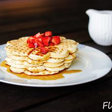 Fluffy Crunchy Waffles by Flick Your Food
