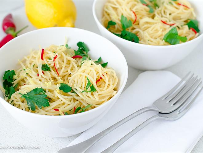 Fresh Lemon And Chilli Spaghettini