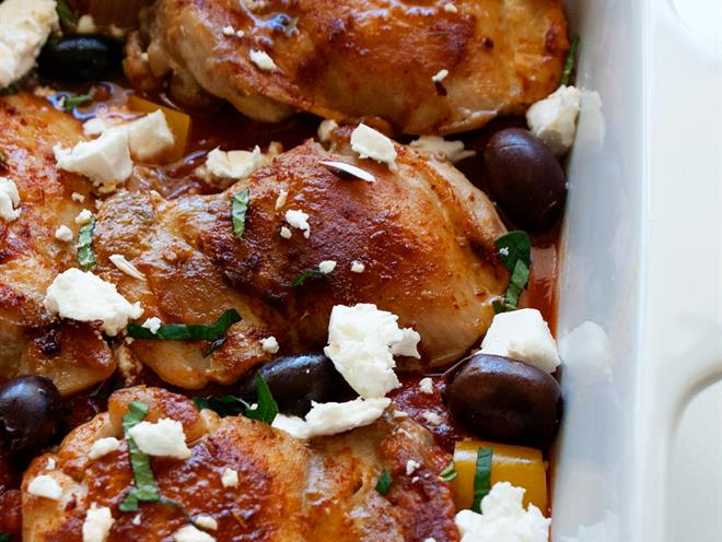 Greek Style Chicken Thighs · Australian Kitchen