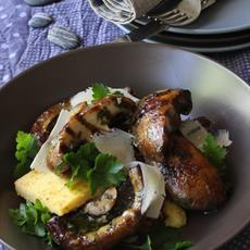Grilled Portabello Mushrooms with Polenta