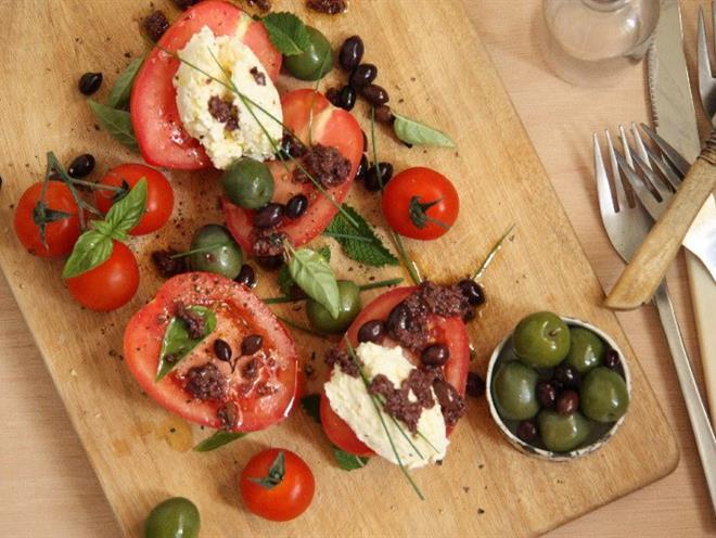 Heirloom Tomato, Ricotta and Olive Salad · Australian Kitchen
