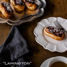 Lamington Eclairs by Delicious Everyday