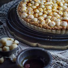 Macadamia and Golden Syrup Tart