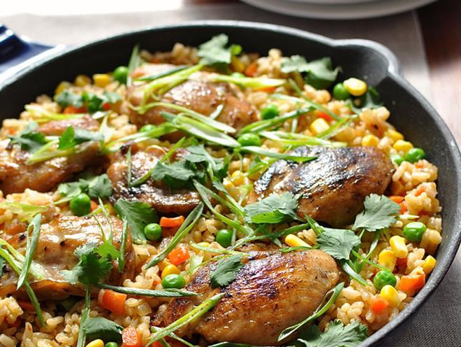 how to cook fried rice in a pot