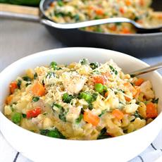 Creamy Chicken, Vegetable & Parmesan Orzo