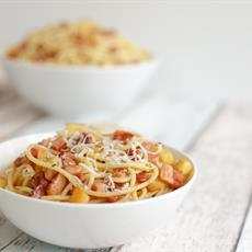 Parsnip And Bacon Pasta