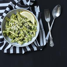 Pea And Spinach Pesto Casarecce