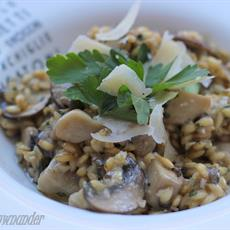 Pearl Barley Risotto With Wild Mushrooms