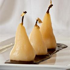 Poached Pear with Spiced Chocolate Sauce · Australian Kitchen