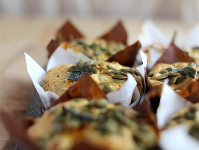 Pumpkin, Feta and Pepita Muffins · Australian Kitchen