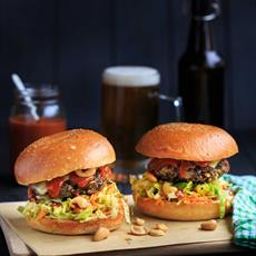 Roasted Black Bean Burgers