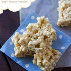 Malted 'Caramel' Popcorn Squares by Wholesome Cook