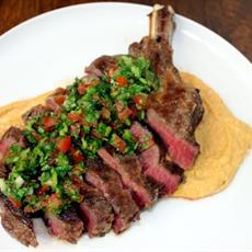 Sous Vide Rib Fillet with Smoky Peanut Sauce and Salsa