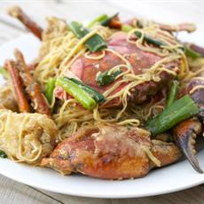 Spicy Crab With Ginger and Spring Onion