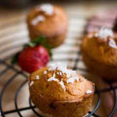 Strawberry Coconut And Lime Friands