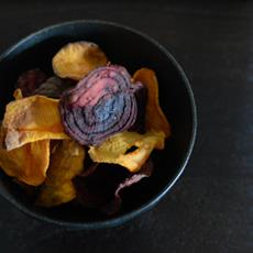 Sweet Potato and Beetroot Chips by What's For Eats?