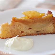 Upside-Down Pear and Macadamia Cake