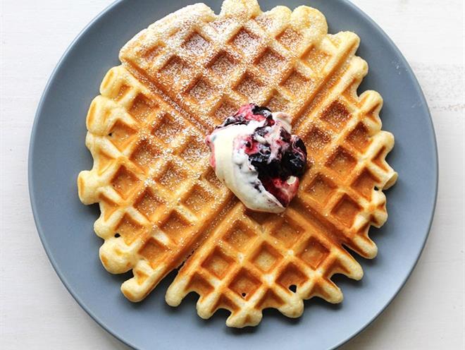 Vanilla Sour Cream Waffles · Australian Kitchen