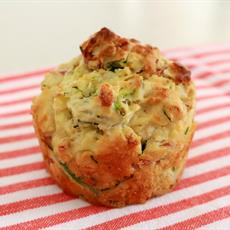 Zucchini & Ham Muffins by Bake Play Smile